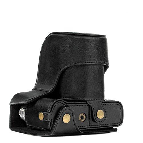 Megagear Custodia In Finta Pelle Compatibilie Con Fujifilm X-T30, X-T20 (16-50Mm / 18-55Mm Lenses), X-T10 Nero