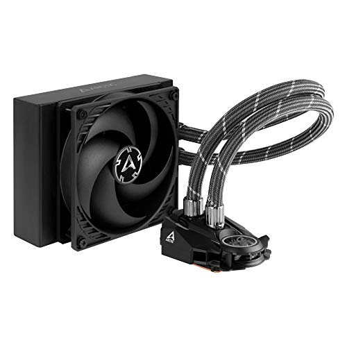 ARCTIC Liquid Freezer II 120 - Refrigerador de agua AIO de CPU Multi-Compatible, con Intel y AMD, bomba controlada por PWM, Velocidad del Ventilador: 200-1800 RPM (controlada vía PWM) - Negro