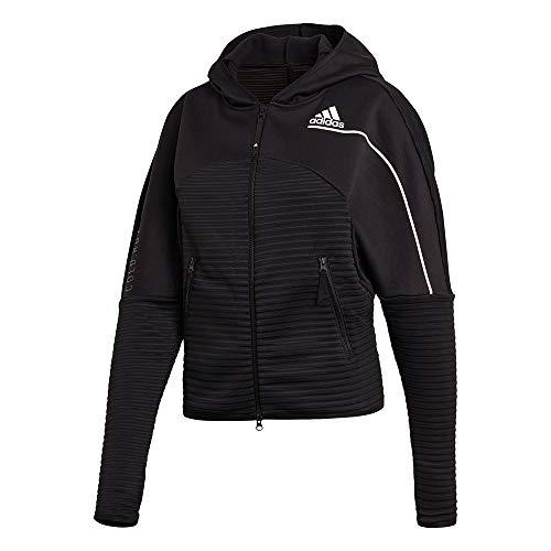 adidas W ZNE A H C.RDY Sweatshirt, Mujer, Black, L