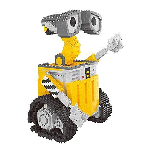 Modbrix Bausteine Roboter WallE, Konstruktionsspielzeug mit 1701 Nano Klemmbausteinen