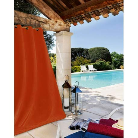 Linder - Cortina para Exterior, Color Naranja