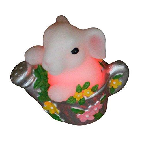 1x Häschen in der Kanne LED Kerzen Beleuchtung Ostern Dekoration