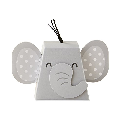 Kate Aspen Adorable Elephant Favor Box (Set of 12), One Size, Grey &...