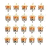 20 Pcs Filtros De Combustible,Filtro De Gasolina 6Mm,Filtro De Gasolina Con ImáN,Filtro Universal De Gasolina,Filtro De Gasolina Para Moto,Adecuado Para CortacéSpedes, Tractores, Motores, Motonetas