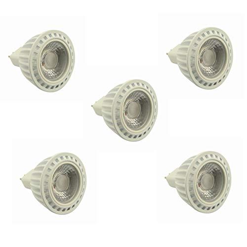 YEZIN Lampadina LED a Mais per Interni (Esterni) Lampadina LED GU5.3 Spot 5W MR16 AC/DC 24V 36V Bianco Caldo/Bianco Freddo Beam a 60 Gradi 400-450lm 50W Alogeno equivalente 5-Pack