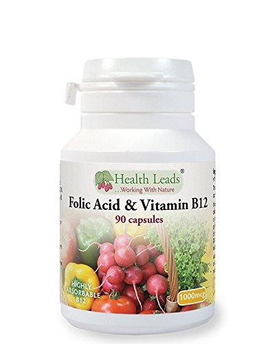 Folic Acid & Vitamin B12 (500mcg & 500mcg) x 90 Capsules