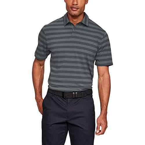 Under Armour CC Scramble Stripe Chemise Polo Homme, Gris, M