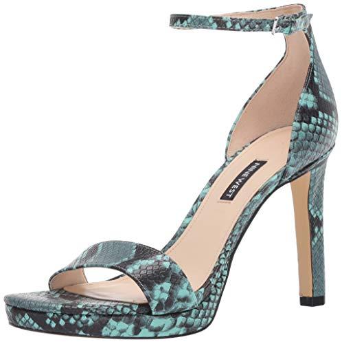 NINE WEST Women's EDYN3 Heeled Sandal, Mint, 8.5