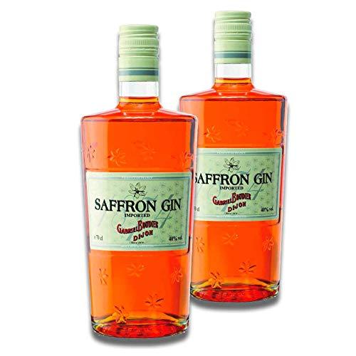 2er Set Saffron Gin, Safran Gin Gabriel Boudier (2 x 0,7 Liter)