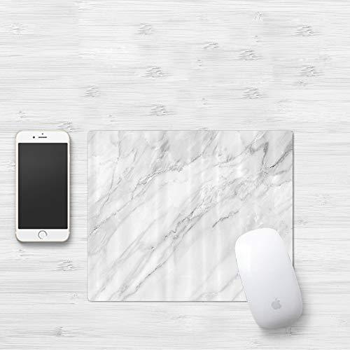 Mauspad mit genähten Kanten,Marmor, gebeizt Marmoriert Hintergrundbild Abstrakte Texturen Monochromatisch,rutschfeste Gummi-Basis-Mousepad, Gaming und Office mauspad für Laptop, Computer & PC320x250mm