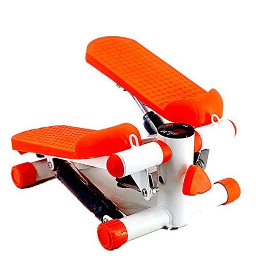 HIUHIU Maison Pas à Pas Multifonctionnel Pas à Pas Mini-Perte de Poids Pas à Pas l'équipement de Fitness Mince Jogging Machine elliptique Machine de Taille,Orange