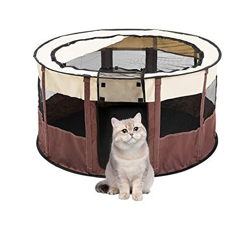 Qirreao Portatile Pieghevole Pet Box Esercizio Penna Cuccia Cuccia Esterna Copertura Ombra Copertura Copertura Copertura Copertura per il Trasporto con Borsa per Cani/Gatti