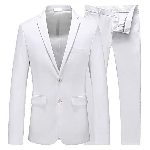 U.S. Polo Assn. mens U.s. Polo Assn. Men's Cotton business suit pants sets, Blue/White, 38 Regular US
