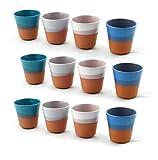 Hostelnovo - Juego de 12 Vasos para Agua, caf u Otro Tipo de Bebida - Fabricado...