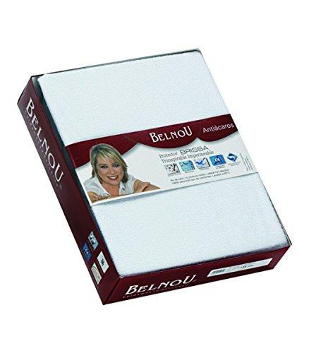 Belnou - Protector de Colchón Impermeable y Transpirable de Tencel Extrasuave con lámina PU, Blanco, 150x190/200x30 Cm