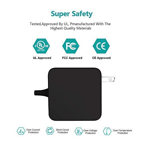 45W USB Type C AC Charger Fit for Samsung Galaxy Chromebook XE930QCA-K01US K02US UL Listed Laptop Power Supply Cord