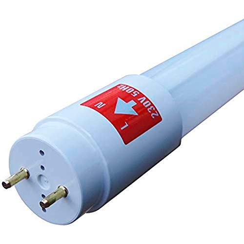 Juego de 10 tubos fluorescentes LED SMD Premium 150 cm (1500 mm, T8 G13, 2250 lúmenes, 6000 K, luz blanca fría, potencia: 24 W), incluye cebador