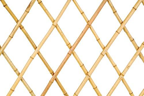 Verdemax 52741.8x 1.8m traliccio estensibile in bambù con canne di grandi dimensioni–naturale