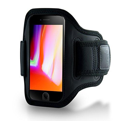 vau ActionWrap Sportarmband Hülle kompatibel zu Apple iPhone 7/8 & iPhone SE (2020) Sport-Hülle Handyhülle Armband ist Homebutton & Touch-ID kompatibel