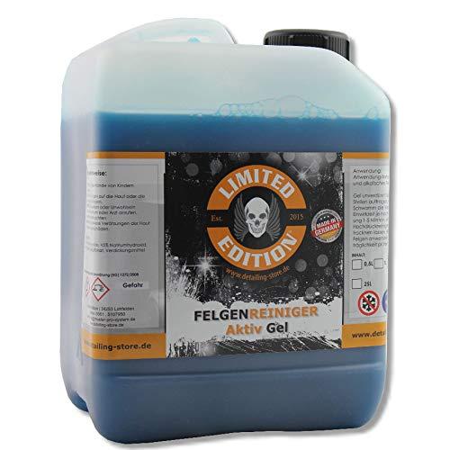 Limited Edition - 2,5L - Felgenreiniger AKTIV Gel - Entfernung von effektiven Verschmutzungen auf Leichtmetallfelgen & Stahlfelgen