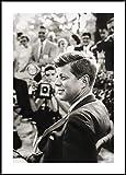 Rahmenbild Kennedy   Wandbild mit Rahmen schwarz   Bild