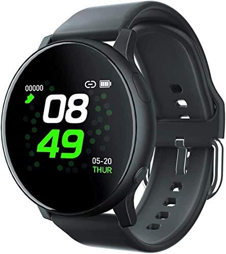 Pulsera inteligente, rastreador de fitness deportivo, reloj deportivo para correr, reloj inteligente Bluetooth, negro