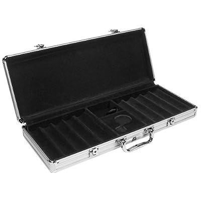 Trademark Poker 500 Capacity Aluminum Chip case - Black Interior