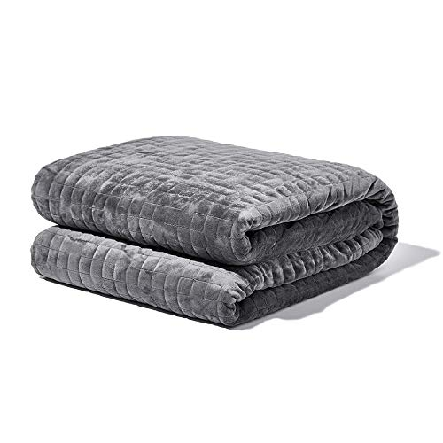 "Gravity Blanket: The Weighted Blanket for Sleep | Premium Weighted Blanket with Removable Cover | Generation 3 with Upgraded Zipper Fastening System | Grey, 25lbs, 48""x72"""