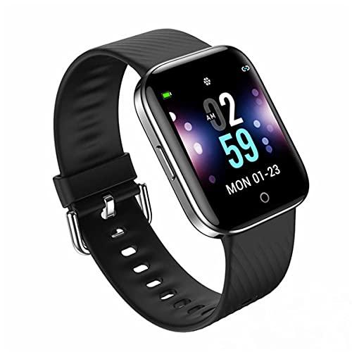 EXEDSCEND Smart Watch, Pantalla táctil Fitness con Monitor de Ritmo cardíaco y saturación de oxígeno en la Sangre, Impermeable IP67 Rastreadores de Actividades para Hombres Mujeres,Negro