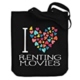 Teeburon I Love Renting Movies Colorful Hearts Bolsa de Lona 10.5' x 16' x 4'