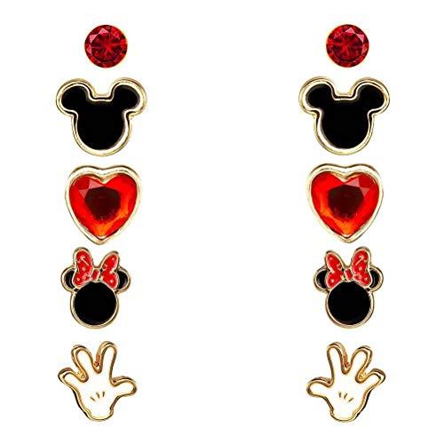 Peers Hardy Disney Mickey und Minnie Mouse 5 Stück Ohrring-Set