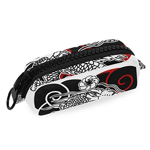 Japanse draak tattoo potlood tas zak school briefpapier pen doos rits cosmetische make-up tas