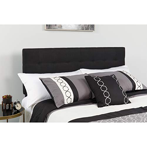 Flash Furniture Bedford Tufted Upholstered Twin Size Headboard in Black Fabric