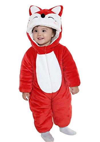 OHmais Bébé Fille garçon Unisexe Grenouillère Costume Deguisement Combinaison Pyjamas Hiver Renard