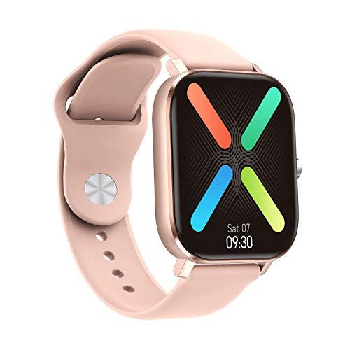 Suoleshi Smartwatch - 2020 HD 1.75 Pulgadas Smartwatch Hombres Full Touch Multi-Sport Mode VS P8 Reloj Inteligente Mujeres Monitor de Ritmo Cardíaco Para iOS y Android (Oro Rosa)