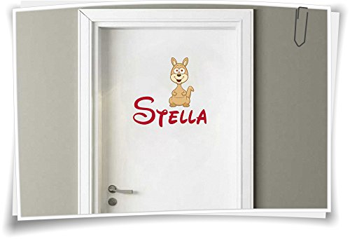 Medianlux deursticker sticker kinderkamer sticker naam kindernaam wensnaam baby kangoeroeoek