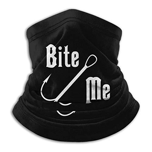 Bite Me Fishing Neck Gamas, warmer, winddicht masker, stofgelaatsmasker, UV-gezichtsmasker, bivakmuts, sjaal voor outdoor, sport, zwart