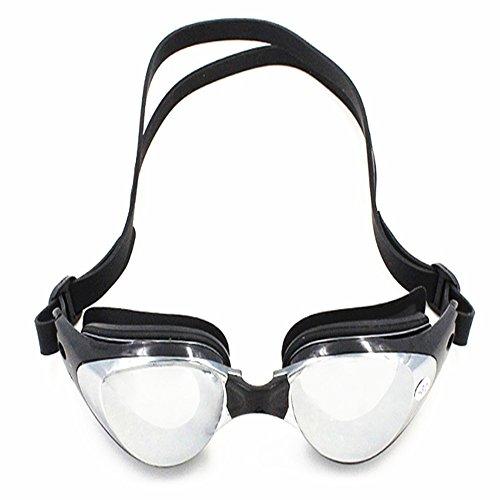 Zwembril HD-galvanotechniek, anti-fog veiligheidsbril met optionele myopiecoating en meerdere graden myopiecoatingsfolie voor zwembrillen voor volwassenen, mannen vrouwen jeugd kinderen