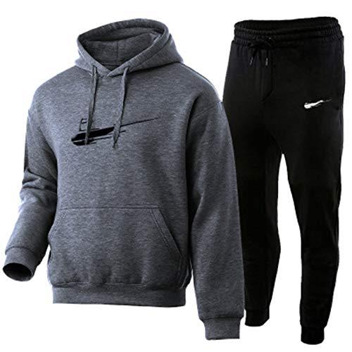 Chandal Hombre Completo, Chandal Hombre Y Pantalon Chandal Hombre, Moda Impresión 3D Jogging Fitness Ropa De Hombre (s-3xl) Dark gray-3XL/95kg