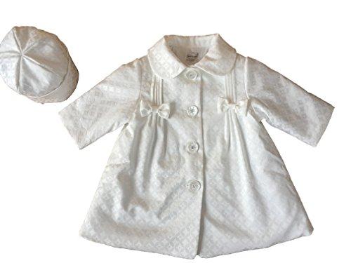 Soffi Kids Edel Winter Taufmantel Mantel Taufe mit Mütze Weiß (62)