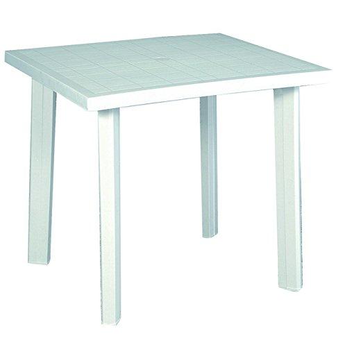 Home 9694325 tafel, wit, 80 x 74 x 72 cm