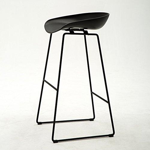 Tabouret de bar Tabouret de bar Tabouret de bar Tabouret de bar Piètement en acier noir Tabouret de bar en option 45 * 45 * 83cm Peut s'asseoir sur le tabouret (Couleur: 7) (Color : Black)
