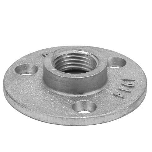 Base de tubería de brida, Base de brida, tubería de brida DN15 3 orificios de hierro fundido de 65 mm para tuberías de fijación industrial(Aluminum alloy)