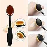 D88, 1 unids cepillos de maquillaje portátil cepillo de dientes oval nylon pelo cosmético rubor cara Fundación mezcla cepillo herramienta
