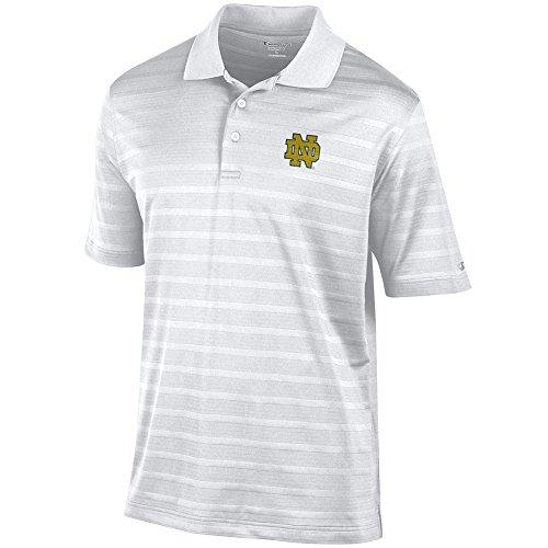 Elite Fan Shop Notre Dame Fighting Irish Polo Shirt White - Medium