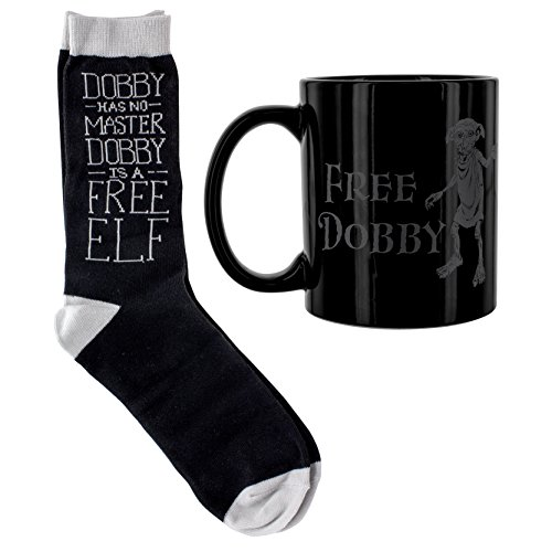 Harry Potter Dobby taza y calcetines Set, cerámica, multicolor, 12x 8x 10cm