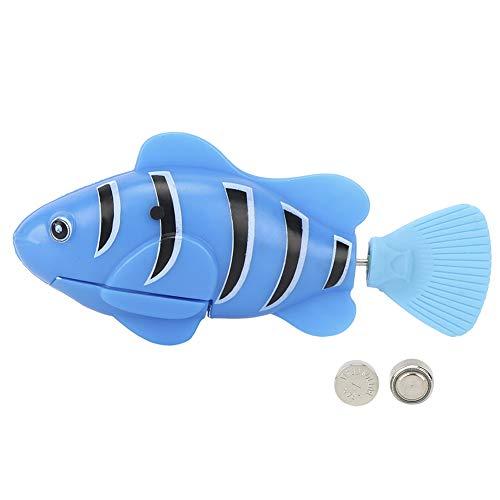 Okuyonic Katzensimulations-Fischspielzeug, Katzenspielzeug Katzen-elektrisches Fischspielzeug-Sparmodus für für Pool(Blau)