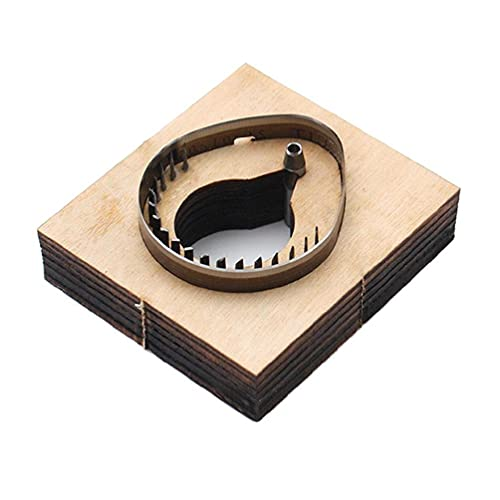 ShapeW DIY RFID Llavero de cuero etiqueta de cuero plantilla de perforación de madera troquelado molde de corte de metal muere navidad