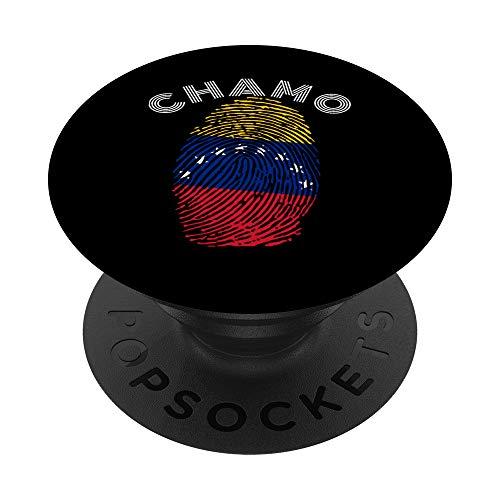 Chamo Bandera Venezuela Huella Digital Orgullo Venezolano PopSockets PopGrip Intercambiable