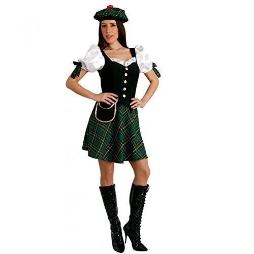 Mortino Disfraz de Escocia (tallas S-XL), color verde a cuadros